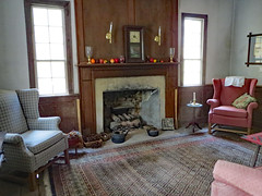 Living Room. (dccradio) Tags: whiteoak nc northcarolina bladencounty harmonyhall harmonyhallplantation museum park history historic historical richardsonhouse coljamesrichardson revolutionarywarera historicalbuilding livinghistory mantle fireplace chair chairs classic old vintage antique window rug carpet throwrug canon powershot elph 520hs