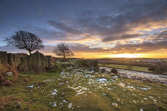 Sunset on Beacon Hill (John__Hull) Tags: landscape view beacon hill rocky outcrop leicestershire charnwood uk england snow grass bracken trees sky clouds sun sunset nikon d7200 sigma 1020mm breath taking landscapes