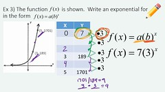 Writing the Equation of an Exponential Function (iwriter1) Tags: algebra algebra2 equation exponential function math