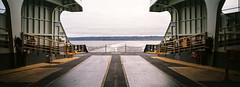 Xpan - Bothell Farm, Seattle, Ferry Ride - Fuji 200-5 (ryanjgabbard) Tags: hasselblad xpan 45mm ferry fuji washington panoramic panorama boat puget sound