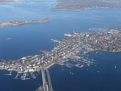 201803116 DL582 DTW-LGA New York City Bronx City Island (taigatrommelchen) Tags: 20180312 usa ny newyork newyorkcity nyc bronx ocean atlantic longislandsound cityisland boat icon city bridge aerial view photo airplane inflight dal