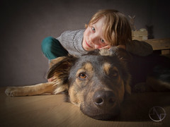 Kai & Aruna (brooneq) Tags: boy dog child kid portrait animal canon 7d tamron 1750 photography fotograf noise noisenetpl bruno ciechorski