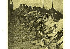 Negro chain gang prepared for sleeping (SSAVE over 10 MILLION views THX) Tags: chaingang south negro prisoners