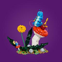 Alice in Wonderland – The Caterpillar (roΙΙi) Tags: aliceinwonderland alice wonderland caterpillar hookah mushroom dandelion plants flower