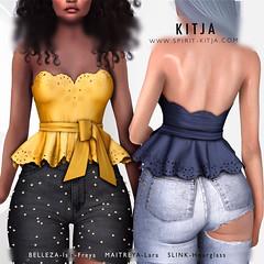KITJA- Isa Top (ᴋɪᴛᴊᴀ) Tags: kitja spiritkitja secondlife 3d fashion belleza bellezafreya bellezaisis maitrya maitryalara slinkhourglass slink