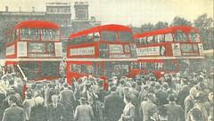 Back home in London Horse Gaurds Parade 1952. (Ledlon89) Tags: rt rtbus rtl rtlbus leylandtitan aecregent aec leyland lt lte london bus buses londontransport londonbus londonbuses canada usa america 1952 tour 19950s transport