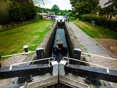 Acton Trussel Canal Lock (chrisbedford) Tags: canal boat water grass lock