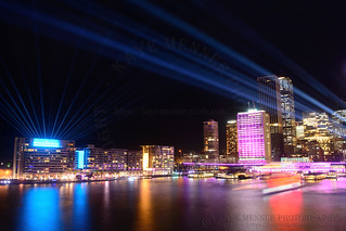 Sydney Skyline Illuminated by Kaye Menner