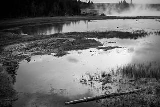 B&W - Firehole Lake Drive - Yellowstone Natl Park