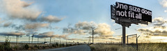 one size does not fit all (pbo31) Tags: bayarea california nikon d810 color boury pbo31 june 2018 panorama stitched panoramic large sunset sky sanmateobridge bridge eastbay alamedacounty sign billboard ad clouds roadway hayward depthoffield
