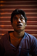 Mug Shot (AvikBangalee) Tags: pettythief mugshot mugger criminal beatenup mob portrait bloodyface avikbangalee elephantroad dhaka bangladesh