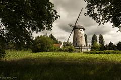 De Witte Molen, Aarschot - Belgium (Dennis van Dijk) Tags: bowl bowling mill witte molen belgium europe moody cloudy sky dark white wind lost abandoned forgotten decay derelict beauty