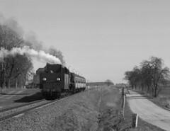 Pt47-65 (pedro4d) Tags: pentax 6x7 takumar 10524 ilford fp4 developed kodak hc110 film analog medium format train steam engine dampflok pkp kolej pociąg czarnobiałe blackandwhite monochrome