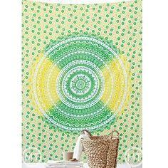 GREEN CIRCLES - ECO- (mandalatapestry) Tags: tapestry wall mandala