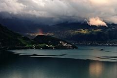 Rest of the Rainbow (martinus.structor) Tags: schweiz switzerland lake see vierwaldstaettersee lakeoflucerne rainbow clouds sky regenbogen groupenuagesetciel