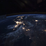 Beautiful image of West coast of California before dawn. Original from NASA . Digitally enhanced by rawpixel. thumbnail