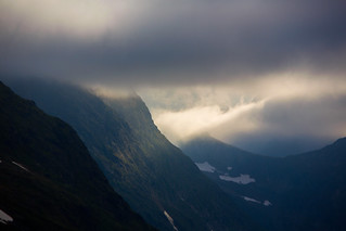 Early morning in the Italian Alps