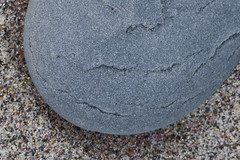 Purple Sand Blue Stone (brucetopher) Tags: purple sand grains grain beach texture rock blue stone smooth round curve oval textured colorful