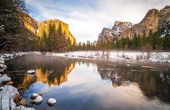 Fine Art Yosemite National Park Winter Snow Landscape Photography! Valley View Merced River! Sony A7R II Mirrorless & Carl Zeiss Vario-Tessar T* FE 16-35mm f/4 ZA OSS Lens SEL1635Z! Scenic Yosemite California Sunset, Dusk, & Blue Hour! (45SURF Hero's Odyssey Mythology Landscapes & Godde) Tags: dusk bluehour