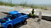 This will do (174/365) (robjvale) Tags: d3200 beach sand sky sun hammonasset nikon adventurerjoe lego project365