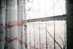 25/30 2017/03 (halagabor) Tags: nikon nikkor vintagelens manualfocus d610 decay derelict urban exploration urbex urbanexploration abandoned abandonment army military base budapest hungary lost forgotten old curtain window