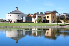 Reflecting Craggy Range Winery (Karen Pincott) Tags: craggyrangewinery hawkesbay newzealand reflections winery newzealandwinemaker