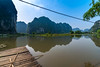 Morning at Skull Island [ Explored 09.04.2018] (Enrique EKOGA) Tags: vietnam ninhbinh travel asia landscape hills mountains water reflection nikon d800e nature ultrawideangle bluesky light mirror lake river tamcoc explore triglavnationalpark