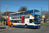 18171, Birchington (Jason 87030) Tags: dennis trident alx400 stagecoach 18171 gx54dvo railway station train bus doubledecker red white blue orange wheels 33 margate thanet kent eastkent southeast april 2018