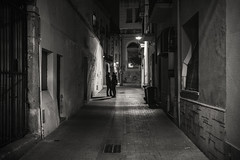 Secret assignations..... (Dafydd Penguin) Tags: secret assignation meeting couple love people street raw shot after dark night shots candid spain catalunya catalonia palamos coastal town view coast urban backstreet alleyway blackandwhite blackwhite black white bw monochrome mono leica m10 summicron f2 asph 35mm