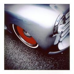 Fender (rustman) Tags: hotrod truck silver red lonestarroundup fujifilm sq10 instant square color saturated austin atx texas lsru texascarculture texaslife instax