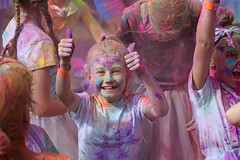 aftermath (Paul J's) Tags: event rainbowrun colourrun taranaki newplymouth coastalwalkway girl