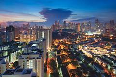 Atomic (Bernard Yeo) Tags: blue cityscapes clouds mornings pentax pixelshift samyang streetlights sunday sunrise tiltshift