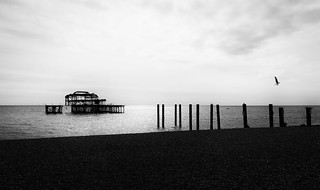Today Is Everything It Is Because Of Yesterday (Brighton Old Pier) by Simon Hadleigh-Sparks