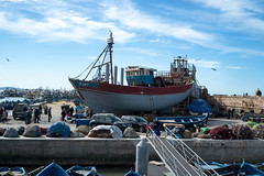 At the harbor (KPPG) Tags: harbor 7dwf morocco marokko essaouria africa afrika hafen schiffe boat boote ship boot schiff himmel sky