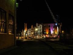 Speicher 6 bei Nacht (jannesbauer) Tags: bremen speicher6 swb langzeitbelichtung olympus nacht licht dunkel hansestadt hb wasser regen