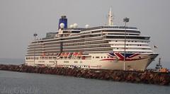 P & O Cruises - ARCADIA (joegoauk73) Tags: joegoauk goa cruise ship arcadia po passenger mpt vasco port harbour