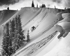 Throne Chutes (Bill Devlin) Tags: ski freeski telemark throne chutes crystal mountain washington cascades blackandwhite