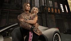 Slumming it (Zoraya Atahara) Tags: grunge car slum old rundown bueno focus poses little bones sprit garbage model pose couple hug