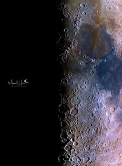 The half moon's terminator (manuel.huss) Tags: moon moonscape half terminator mineral color light shadow dark night sky telescope astronomy astrophotpgraphy space