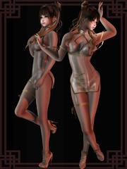miwa's airship Cheongsam @The Seasons Story (ღ:Yuzღ:) Tags: secondlife fashion barberyumyum miwas airship roc 6doo maitreya erotic virtual world tss