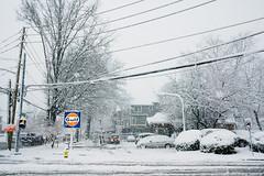 Gulf (JMS2) Tags: gasstation corner streetscape snowstorm neighborhood