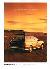 1992 TR Mitsubishi Magna SE Wagon Page 1 Aussie Original Magazine Advertisement (Darren Marlow) Tags: 1 2 9 19 92 1992 t r tr m mitsubishi magna w wagon car c collectible collectors a automobile v vehicle j jap japan japanese 90s