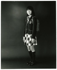 MOMO (Tamakorox) Tags: daughter graduate family girl portrait art japan japanese asia light shadow pleasure love tamakakephotostudio 娘 卒業 日本 日本人 光 影 喜び 愛 玉掛寫眞館 film analoguecamera b&w mamiyarb67prosd kodaktmax400 ilfordrcpaper