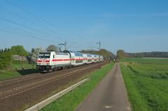 DB 146 551, Eilvese (Sander Brands) Tags: trein treni train treno trenuri trenuro traktion traxx züg zug d7000 db ic intercity ic2 rail railfanning dosto doppelstock nikon 146 fernverkehr strecke spotten kbs380