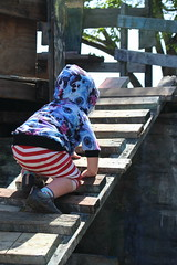 Climbing (quinn.anya) Tags: paul toddler climbing ramp adventureplayground