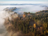 Wherever I may drone (der_peste (on/off)) Tags: droneshot dronephoto rural landscape bavaria village mist fog foggy misty trees forest aerial