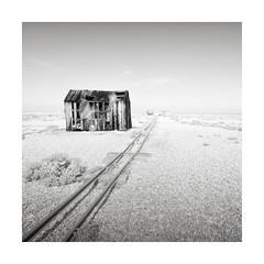 Dilapidated (GlennDriver) Tags: black white bw long exposure fishing kent england mono monochrome square canon nd fine art shack hut
