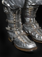 John Glenn's Mercury Boots (Smithsonian National Air and Space Museum) Tags: john glenn nasa astronaut 1962 orbit earth spacesuit us navy mark iv pressure suit project mercury friendship mercury7
