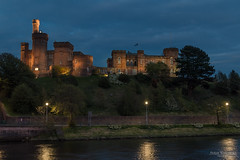Castle of Inverness, Scotland (Zaphod Beeblebrox 1970) Tags: schottland castle fluss travelphotography hour burg blauestunde scottisch longexposure blue scotland bluehour travel nacht night inverness ness uk river vereinigteskönigreich gb