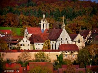 GERMANY, Rund um das Kloster Bebenhausen vor dem Herbstwald, 76241/10165